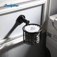 European Style Black Paper Towel Basket Paper Box Roll Holder Toilet Paper Holder Tissue Box Bathroom Accessories