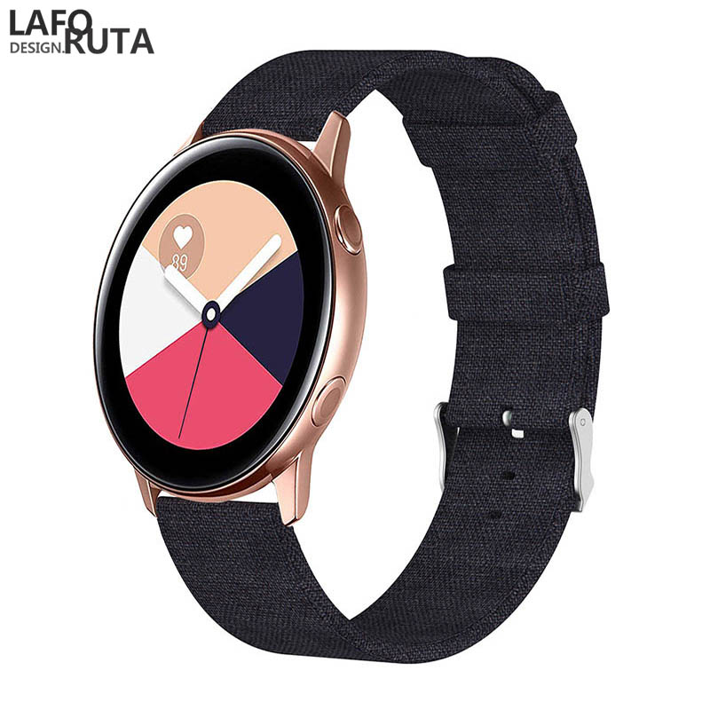 Laforuta Nylon Band for Samsung Galaxy Watch Active 42mm Strap Classic S2 Sport 20mm Quick Release