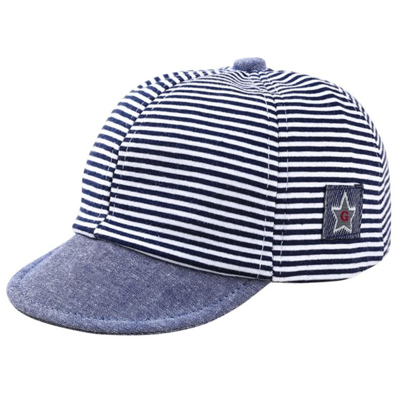 Baby Boy Girls Toddler Summer Cotton Hats Striped Baseball Cap Beret Sun Hat Hot