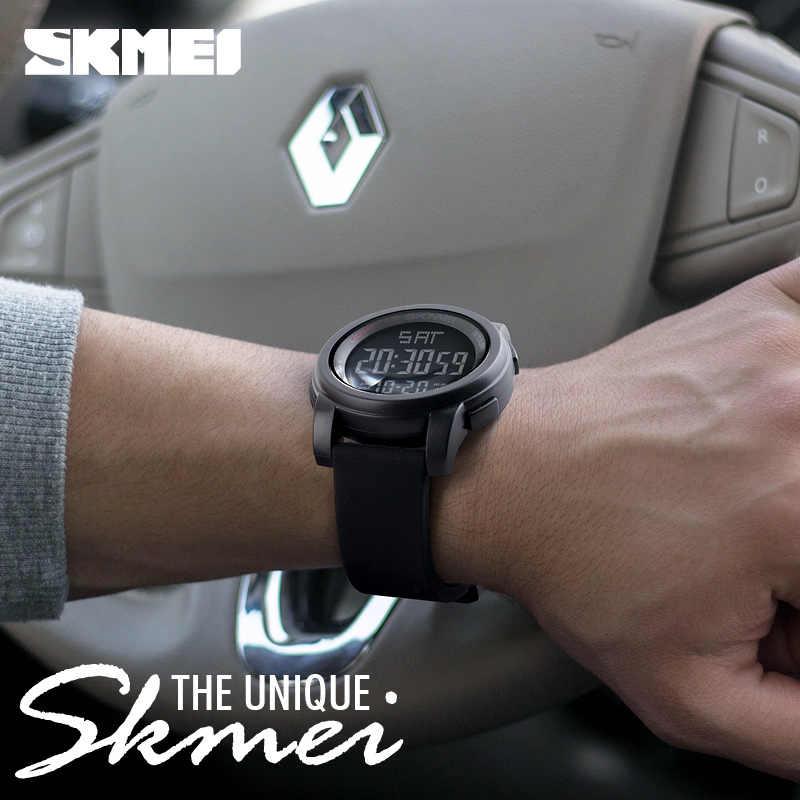 2019 SKMEI plein air hommes LED montre numérique 5Bar étanche mâle montre-bracelet militaire Sport montres horloge Relojes para hombre 1257
