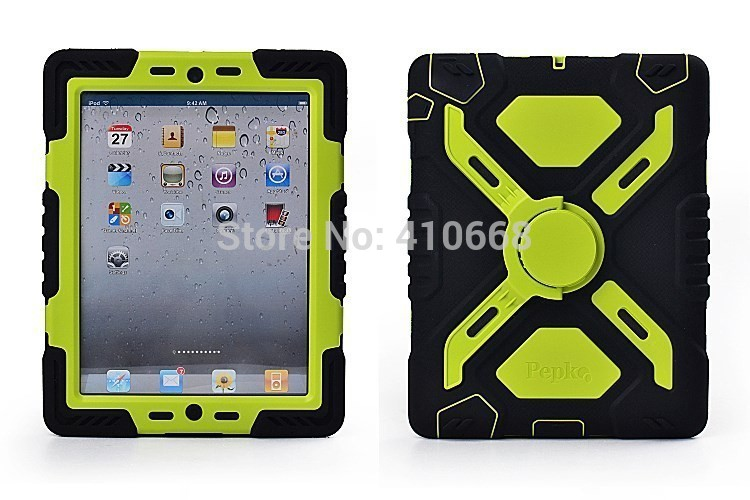 new style e2096 b6d20 New Pepkoo Defender Military Spider Stand Waterproof dirt shock Proof Case  Cover For iPad mini 1 2 3 Silicone protective shell
