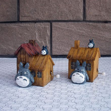 Hayao Miyazaki Totoro Music box Retro Music for sale10*7.5*6.5CM cat for Students bithday Gifts Home Decoration Accessories(China)