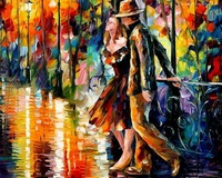 Framed Painting By Number Hand Painted Picture Oil Painting For Living Room 4050 Leonid Afremov Appointment