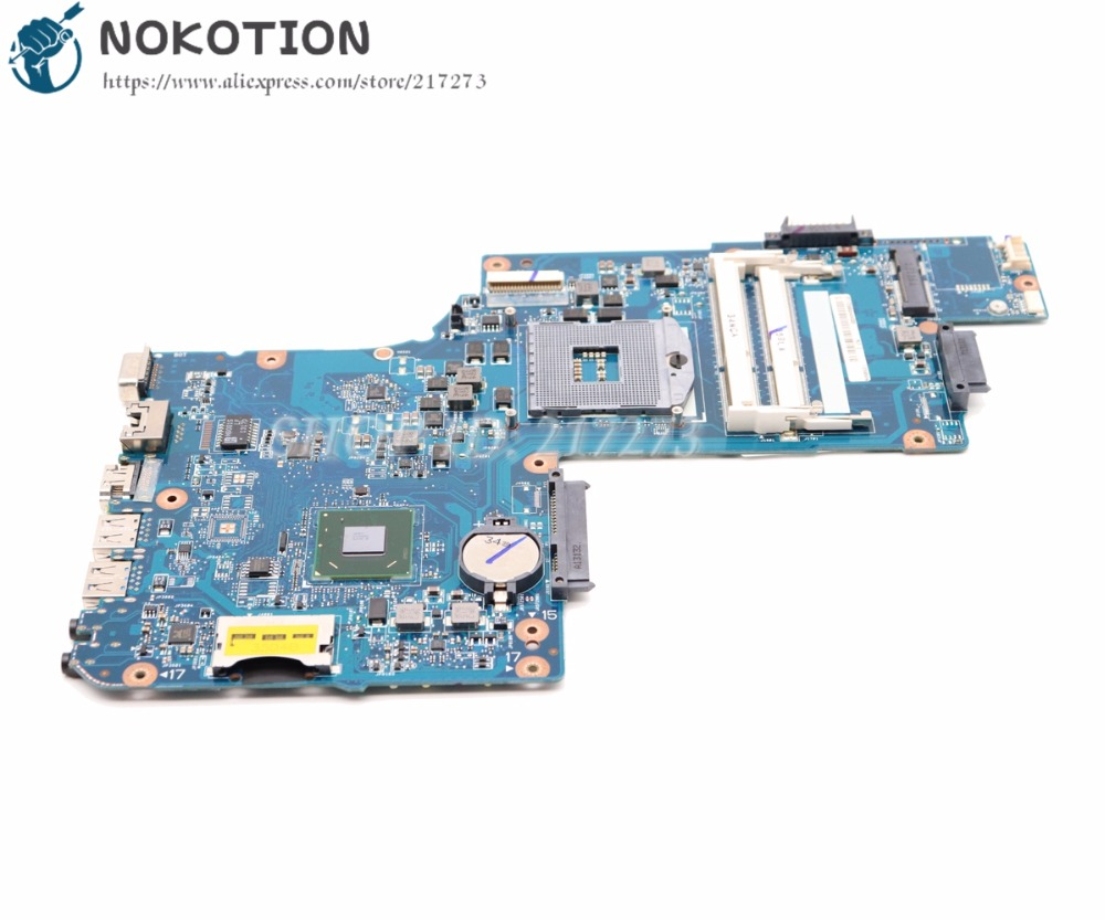 NOKOTION New For Toshiba Satellite C855-1GR C855 C850 L850 Laptop Motherboard H000050950 HM70 Free CPU h000052740 main board for toshiba satellite l850 c850 laptop motherboard 15 6 inch hm70 gma hd ddr3 free cpu