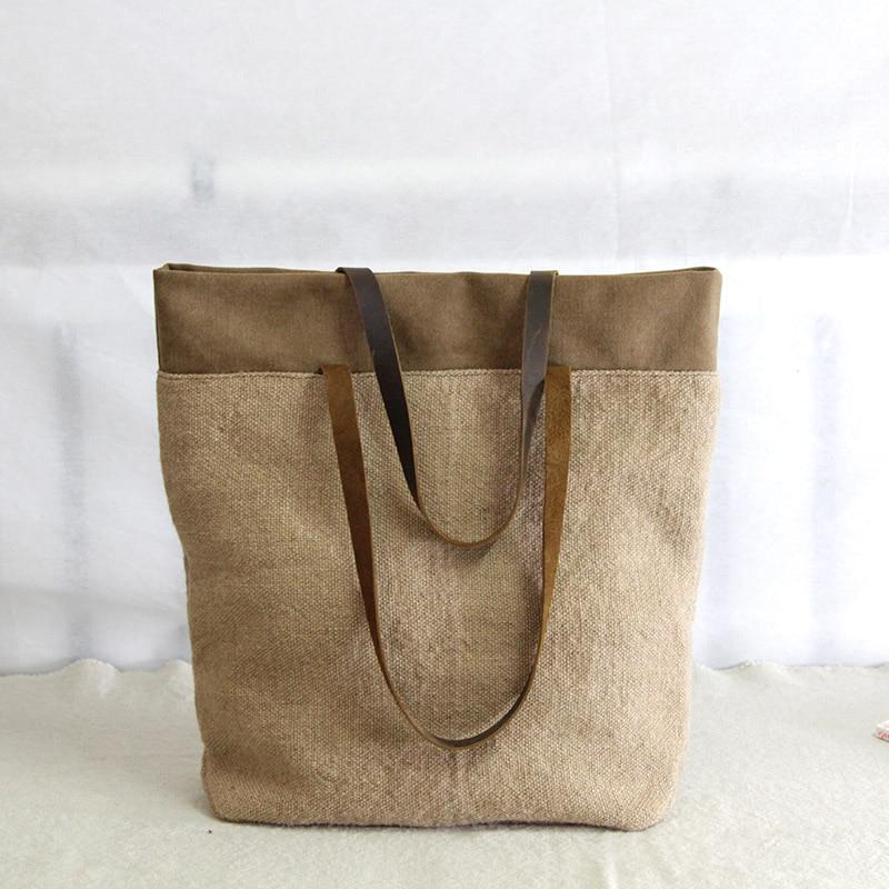 AETOO Vintage cotton and linen shoulder cloth bag literary ladies portable big bag casual coarse linen new original women bags рубашка для беременных cotton and linen 2015