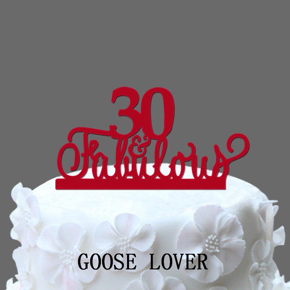 30th y fabuloso torta 30th cumpleaños decoración del partido ...