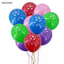 NATASIA 10 шт./лот 12 дюймов футбол с принтом шар ярких цветов 12 дюймов 2,8 г вечерние украшение шар детские игрушки