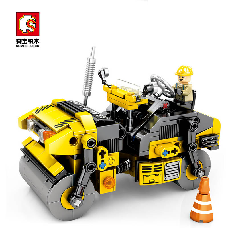 Sembo Diamon Nano blocs double roue rouleau mécanique mot de passe technique Voiture construction brique jouet éducatif cadeau