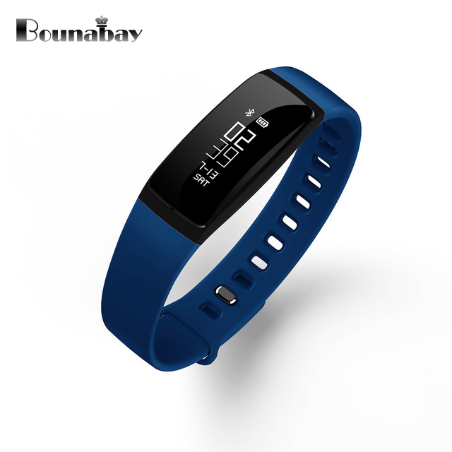 BOUNABAY Heart Rate Monitor Smart Bracelet watch women Bluetooth for apple Android ios phone woman touch clock ladies watches