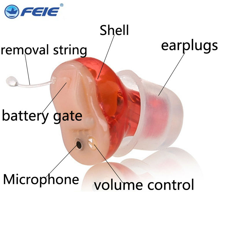 FEIE Mini Device Sordos Hearing Aid Sound Amplifier Wirless Ear plugs Aerophone S-15A Hearing Aids Free Shipping From China feie new arrival mini ear hearing aid amplifier sonido s 900 listening device free shipping drop shipping
