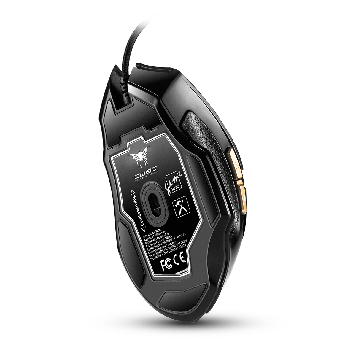 PC Gamer Mouse Gamer Computer Mice 9D Programmable Key 3800 DPI USB Wired Optical ergonomic Gaming Mouse for LOL Dota 2 PUBG in Mice from Computer Office