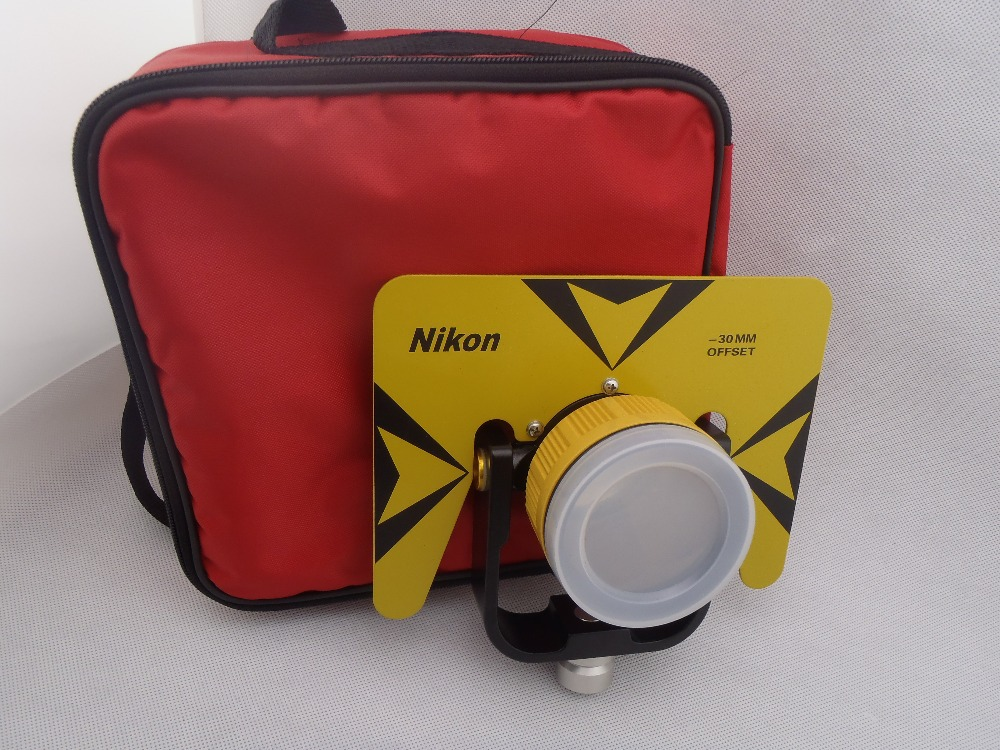 Yellow color single prism with red Bag for nikon total station 5/8x11 thread секатор grinda мини 8 423291 z01