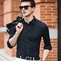 2016 New Camisa Slim Fit Men Dress Shirt Long Sleeve Cotton Shirt Men Brand Clothes plus Size 3XL super thin solid chemise homme