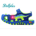 2017 Royal LED children summer shoes 3D dinosaurs fashion boys sandals cut out non-slip boys beach shoes for kids boy