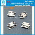Frete grátis, 10 pçs/lote, micro usb 5pin b tipo de conector fêmea para o telefone móvel micro usb jack conector de 5 pinos tomada de carga
