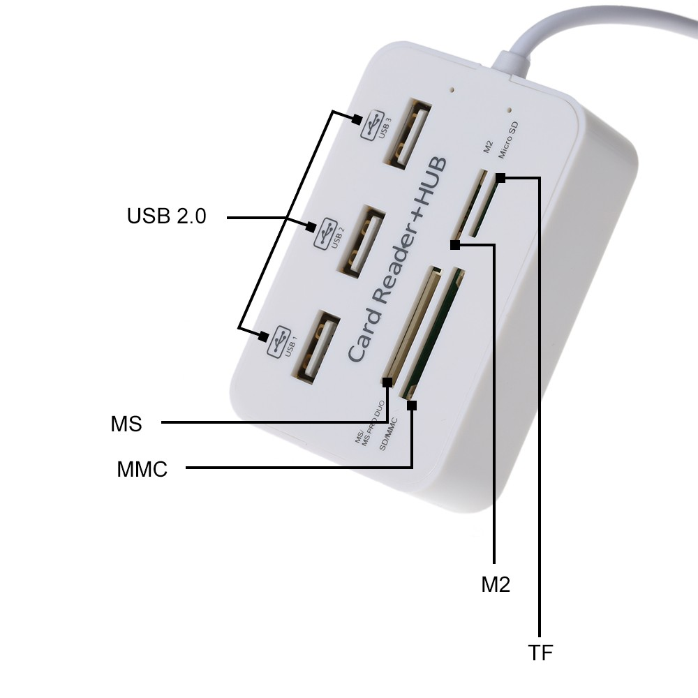 Image 5 - Twobro Micro USB Hub 2.0 Combo Card Reader All In One High Speed USB Splitter Adapter USB 2.0 Hub 3 Ports For PC Laptop Notebook-in Card Readers from Computer & Office