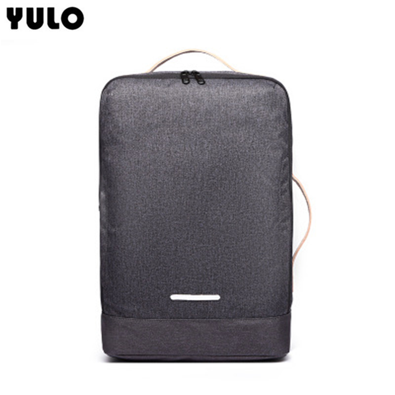 YULO Exclusive Shoulder Bag Male Business Commuter Computer Backpack Travel Bag Retro Bag Men Fashion Trend aetoo retro leatherbackpack bag male backpack fashion trend new leather travel bag