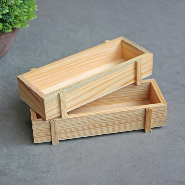 1PC Vintage Mini Wooden Boxes Potted Plants Tray Storage Wooden Box Wooden  Storage Cabinet Sundries Box