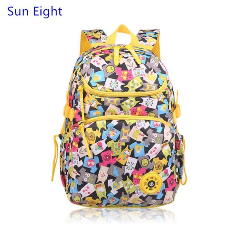 impressão mochila bolsa de livro Function 4 : Children School Bags