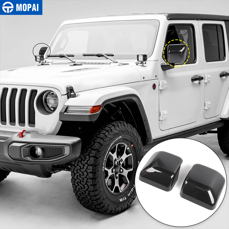 Image 4 - MOPAI Car Mirror & Covers for Jeep Wrangler JL 2018 Rearview Mirror Cover Shell Stickers for Jeep JL Wrangler Accessories-in Mirror & Covers from Automobiles & Motorcycles