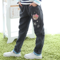 Spring autumn blue gray sports pants girls cotton warm pants Designer Brand Children girls clothing clothes 3 4 5 6 7 8 years