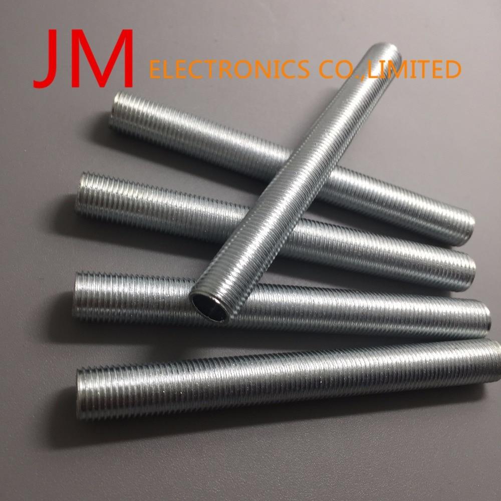 50Pcs/lot M10 1Mm Pitch Threaded Zinc Alloy Pipe Nipple Lamp Repair Part 90Mm Long