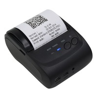 AU Plug 58mm Pocket Printer Mini Bluetooth Printer Thermal Receipt Printer Support For IOS for Android for Windows