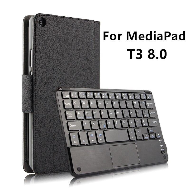 Корпус Беспроводная <font><b>Bluetooth</b></font> клавиатура для Huawei MediaPad T3 8.0 Honor Play <font><b>Tablet</b></font> 2 8 защитный кожаный KOB-W09 KOB-L09 T38 крышка