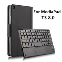 Wireless Bluetooth keyboard For Huawei MediaPad T3 8.0 Case Protective Leather Honor Play Tablet 2 8 KOB W09 KOB L09 T38 cover
