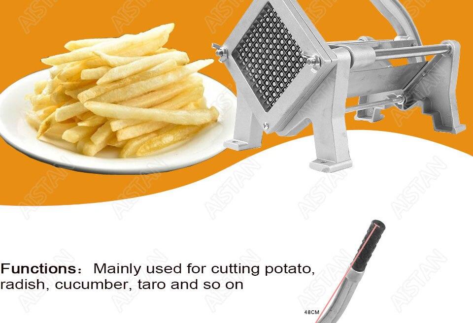 ST1 commerical manual aluminum die-casting potato chipper cutter potato chips cutting machine 2