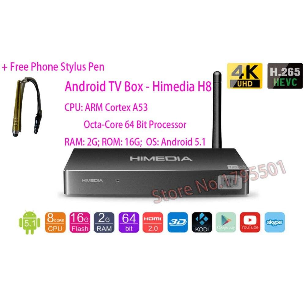 2018 Lastest HIMEDIA H8 Pro 4K UHD Smart Android TV Box 3D Octa Core 2GB 16GB Home TV Network Media Player H.265 Set Top Box