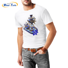 2017 Summer Short Sleeve Men's T-shirt White Cotton 3D Printed Casual Tees Top Clothing For Man Tee Shirt Homme De Marque