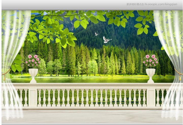 3d papel pintado personalizado mural no tejido pegatina de for Papel pintado paisajes