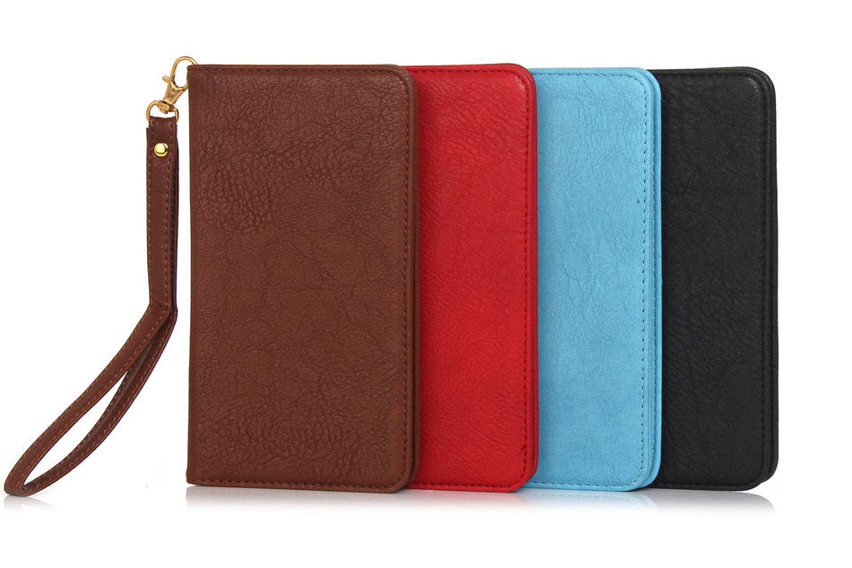"""Luxury Wallet Design Handbag With Card Slots Bags Magnetic Vintage Bag PU Leather Cover Case For xiaomi redmi 3S mi4 mi4c 5.1"""""""