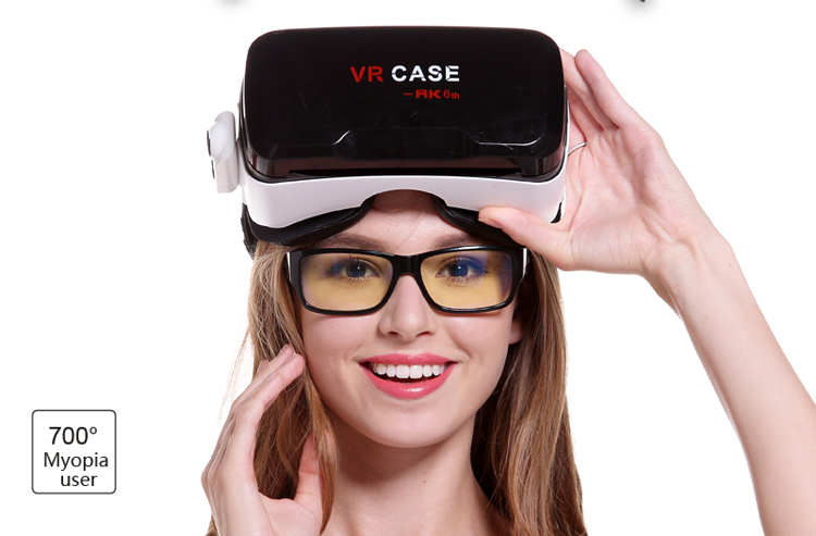 Ultra Clear font b VR b font CASE 6th all in 1 Virtual Reality 3D Glasses