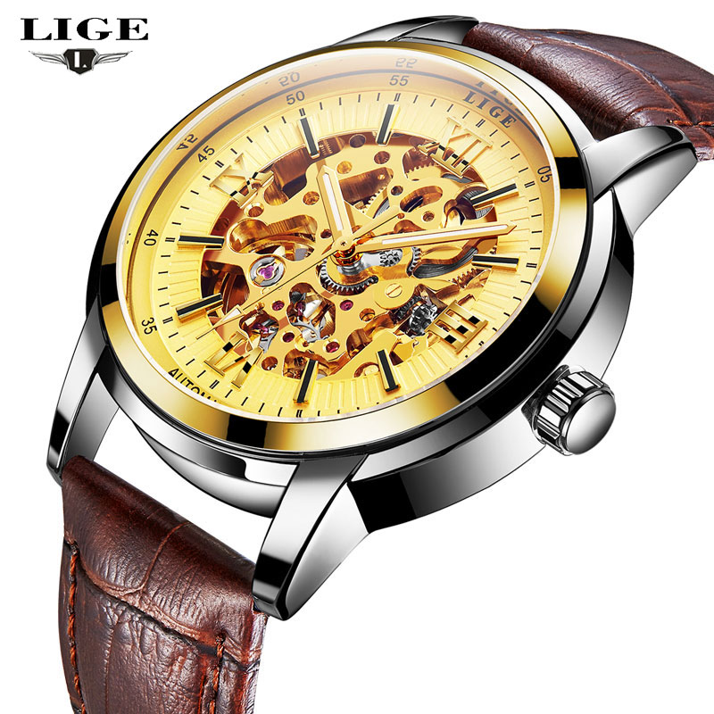 2017 LIGE Men Watches Top Brand Luxury Men's Fashion Sport Mechanical Watch Man Multifunction Waterproof Clock Relogio Masculino weide popular brand new fashion digital led watch men waterproof sport watches man white dial stainless steel relogio masculino