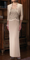 2015 Luxury Khaki Satin Mother Of The Bride Dress Wedding Guest Outfit Long Formal Evening Party