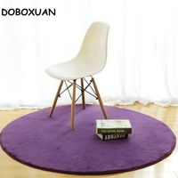 Solid Color Carpet Japanese Modern Style Thicken Soft Fur Rugs Big Round Floor Carpets For Living