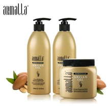 3pcs Treatment Damaged Dry Armalla 500ml Profissional Natural Shampoo and 500ml Deep Conditioner+500ml Argan Oil Hair Mask50