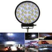 2pcs Super Bright Car LED Headlights 72W 24x3W Flood Spot Round LED Offroad Light Lamp Car