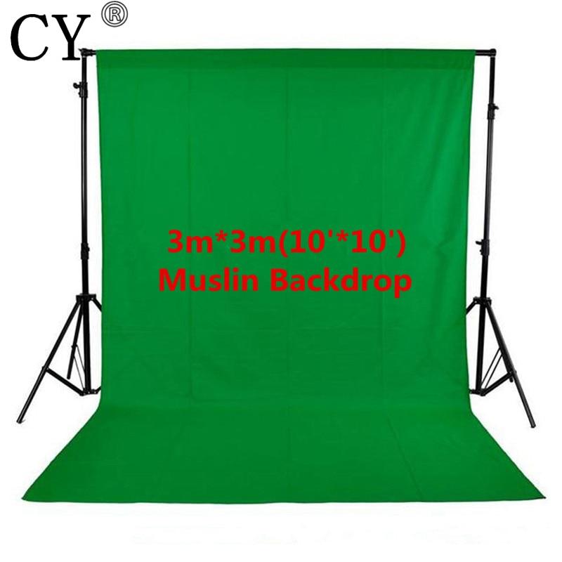 Photo Studio 10ft x 10ft 3 m x 3 m Solide Vert Mousseline Toile de Fond Photographie Backdrop offre spéciale