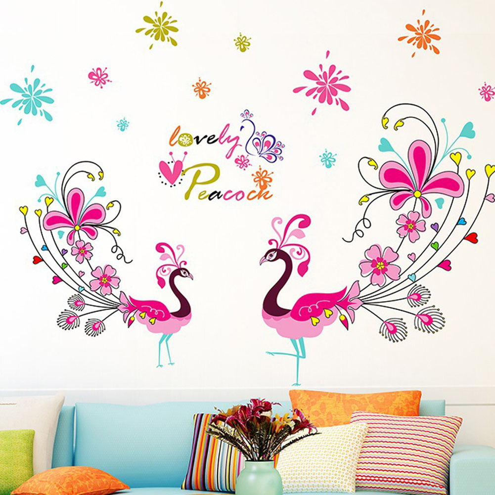 Peacock Colors Living Room Compare Prices On Peacock Wall Stickers Online Shopping Buy Low