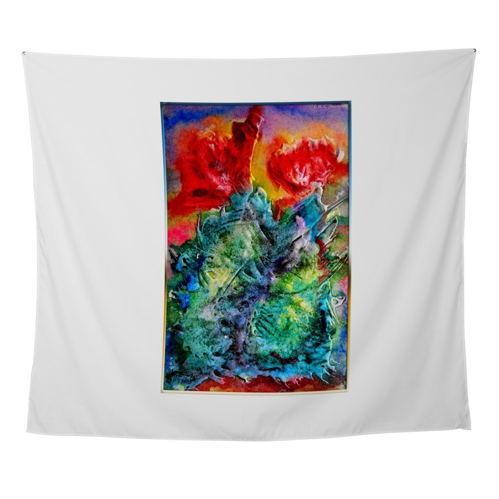 Cactus, Colorful Southwest Desert Art Wall Tapestr Wall Tapestry For Wall Decoration Fas ...