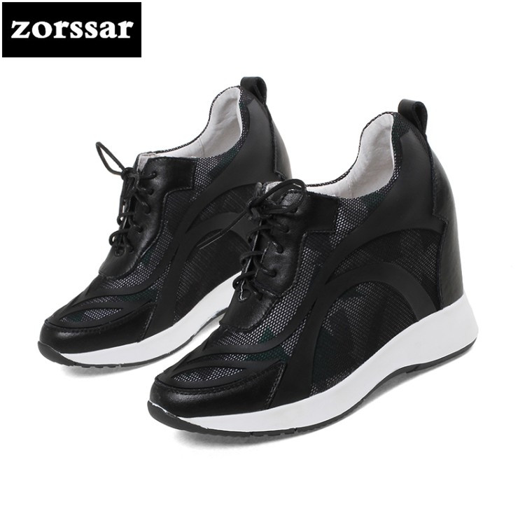 {Zorssar} Casual Women sneakers Shoes breathable 2018 New Womens Wedges Height Increasing High heels Ladies Platform Shoes zorssar brand 2018 new womens creepers shoes heels casual wedges high heels pumps shoes fashion suede women platform shoes