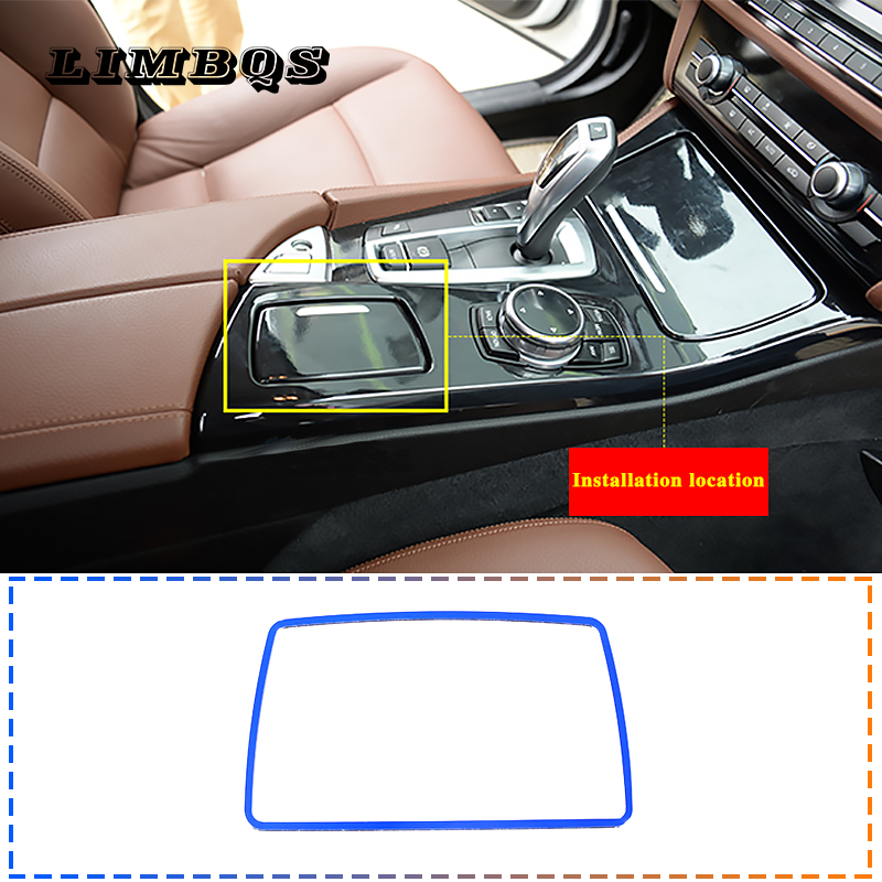 BMW 5 Series center console decorative strips red stainless steel 4 colors(China)