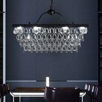 Lustres de cristal do vintage luzes luminária país da américa retro lustre lâmpadas led casa interior sala estar jantar iluminação