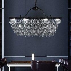 W stylu Vintage kryształowe żyrandole świeci osprzętu krajem ameryki Retro żyrandol Lampy LED domu kryty salon jadalnia oświetlenie
