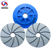 цена на 7Pcs/lot 456 inch Snail Lock Diamond Marble polishing pad Concrete floor polishing pads Granite edge grinding wheel WFD22