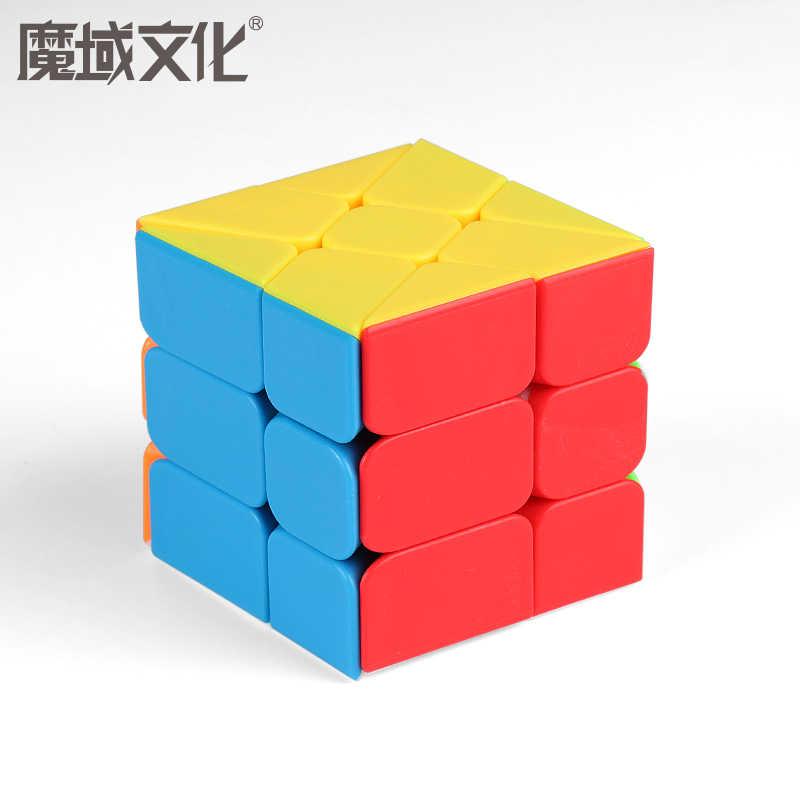 Moyu meilong mofangjiaoshi 3 × 3 風車軸フィッシャーマジックキューブ 3 × 3 × 3 パズルツイスト教育子供おもちゃゲーム