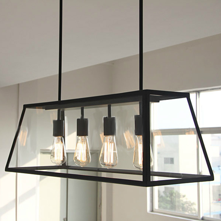 09d60f600b Aliexpress.com : Buy Black Vintage Industrial Pendant Light Loft Style  Lights Nordic Retro Lamps Spider 4 Heads Edison Dining Living Room Lamp  from Reliable ...